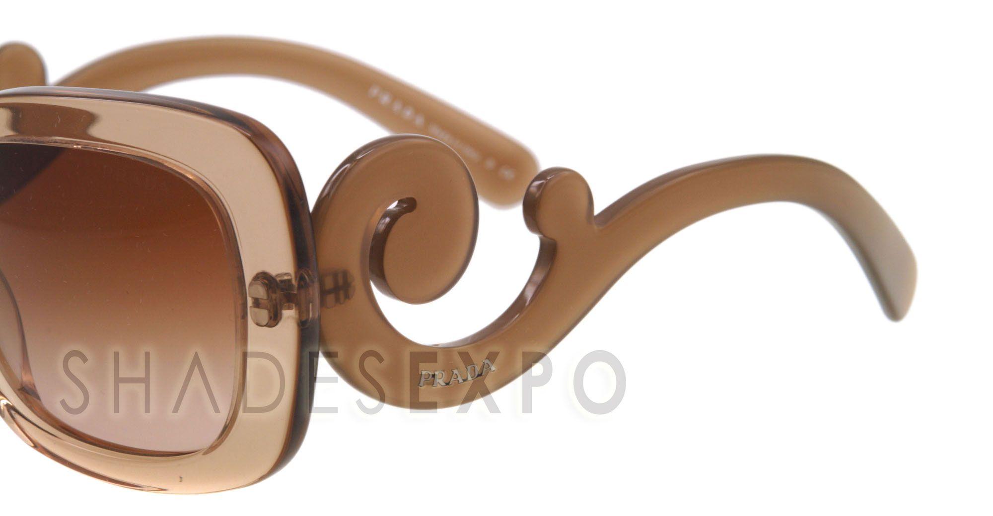 New Prada Sunglasses SPR 27O Brown Kal 1Z1 SPR27P 54mm