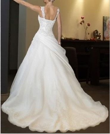 New White Ivory Wedding Bridal Dress Custom Size 2 4 6 8 10 12 14 16