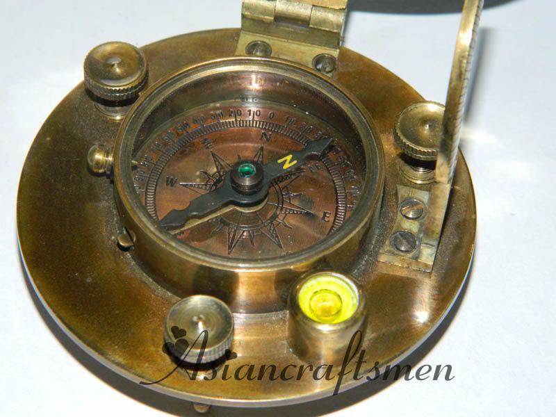 Great Large Round Brass Sundial Compass Hatton Garden London