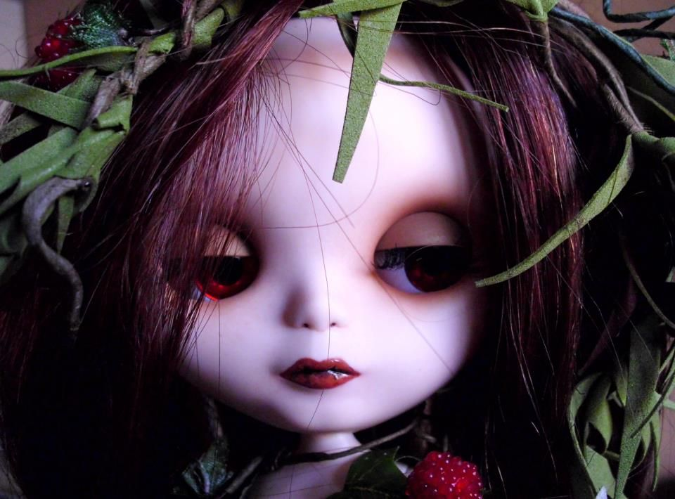 Blythe Doll Custom OOAK Art Doll Rerooted Natural Hair Greta