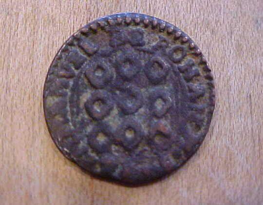 1776 Copper 1 Grano Coin Emmanvel de Rohan Knights Malta Cross Order