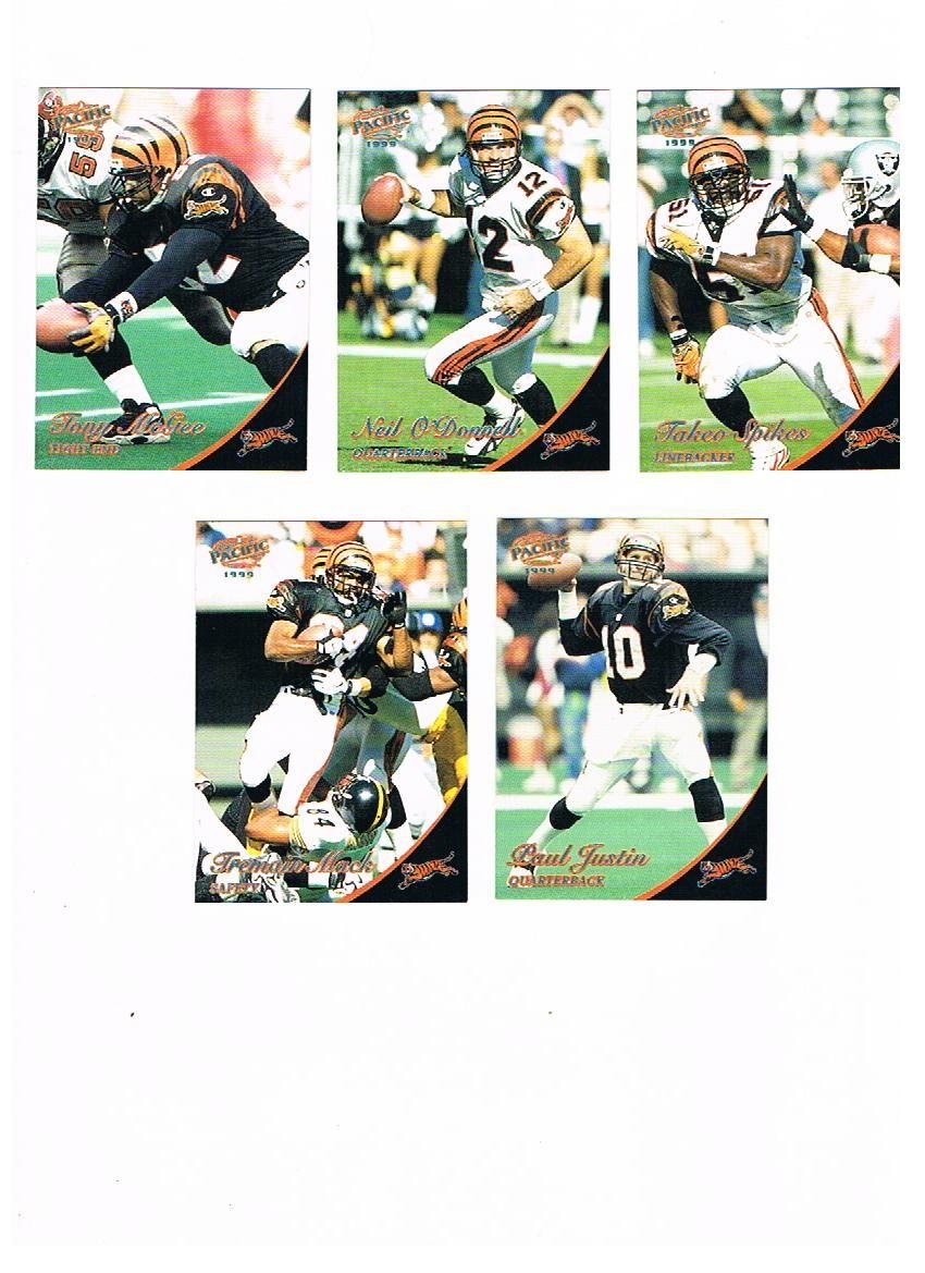 1999 Pacific Platinum Blue Bengals Tony McGee