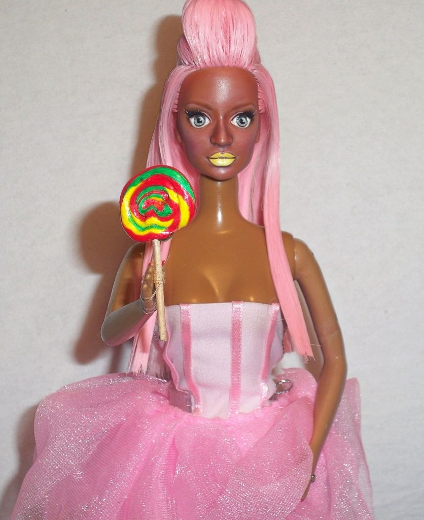 OOAK Nicki Minaj Stupid Hoe Integrity Barbie Doll Repaint Pink Friday