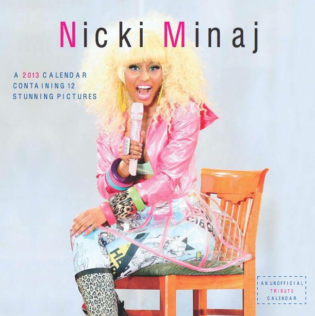 Nicki Minaj   2013 Exclusive Unofficial 12 Month 2013 Calendar
