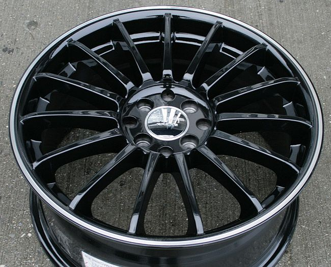 RVM 950 17 Black Rims Wheels Civic Integra Sentra
