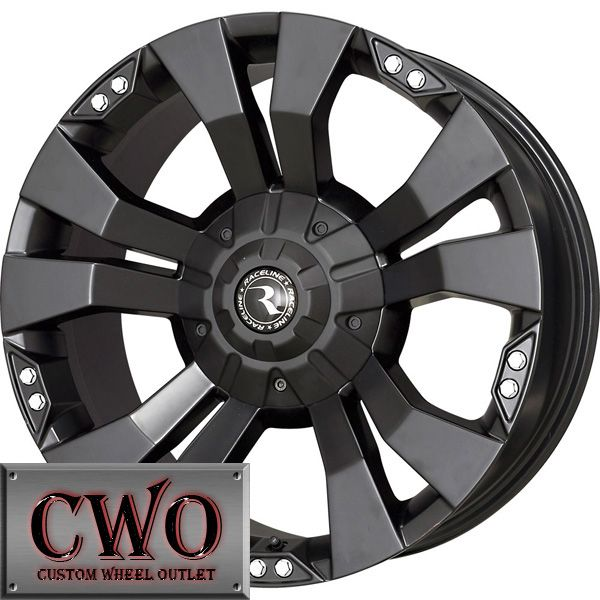 18 Black Raceline Rampage Wheels Rims 6x135 6x139 7 6 Lug F 150 Chevy