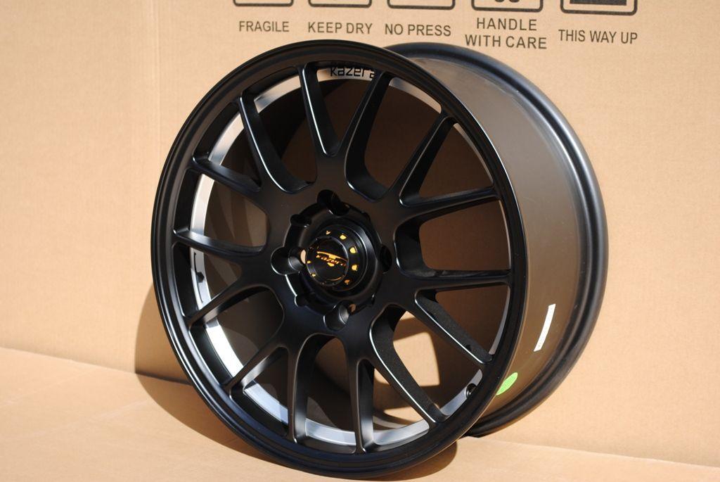 17 KZ I Matte Black Wheels Rims Toyota Corolla Celica Scion FRS TC XD