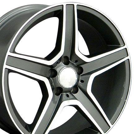 19 8 5 9 5 Gunmetal AMG Wheels Set of 4 Rims Fit Mercedes C E s Class