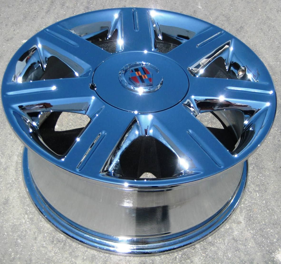 STOCK = 17 FACTORY GM CADILLAC DEVILLE DTS CTS OEM CHROME WHEELS RIMS