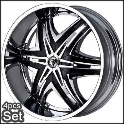 26 Diablo Wheels Rims for for Chevy Ford Dodge RAM Tahoe F150