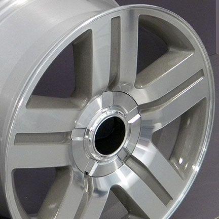 22 Silver Texas Truck Wheels Rims Fit Chevrolet GMC Cadillac Set of 4