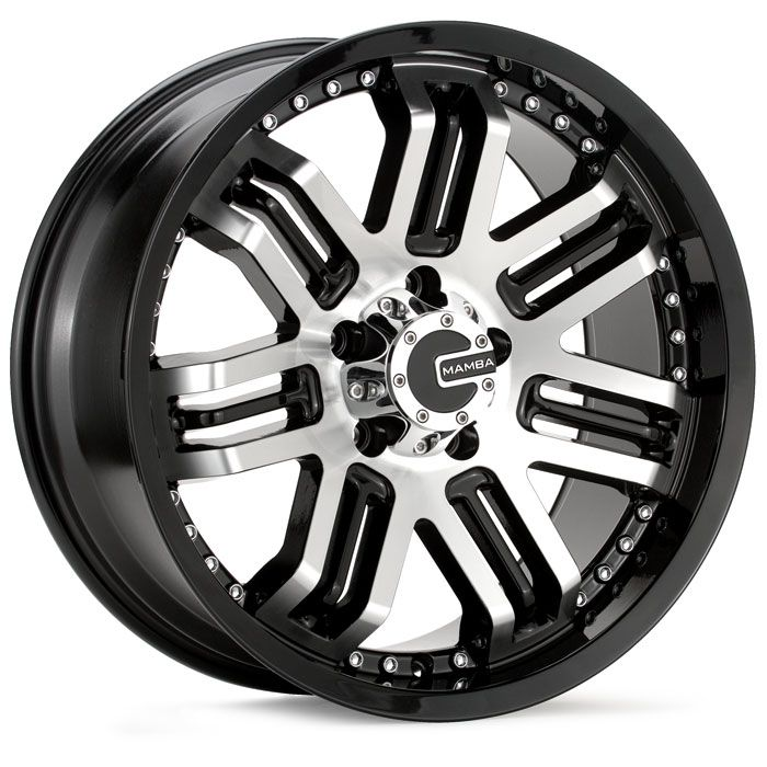 M3 Gloss Black Machined Wheels Rims Toyota Tacoma Silverado