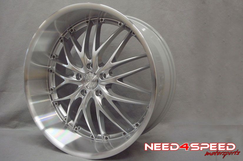 19 BMW E39 M5 MRR GT1 Silver Staggered Wheels Rims