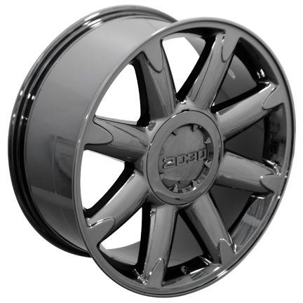 20 Fits GMC   Denali Style Wheel Rim Black Chrome 20x8.5 Cadillac