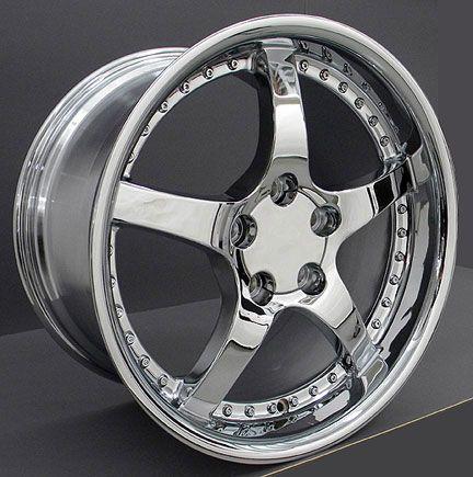 17 18 9.5/10.5 Chrome C5 Deep Dish Wheels Rims Fit Camaro Corvette