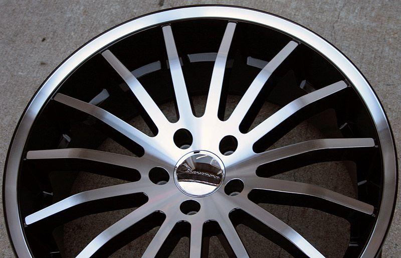 Giovanna Martuni 20 Black Rims Wheels 300 300C AWD