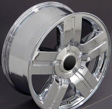 Chrome Texas Wheels Goodyear 275 55 20 LS2 Tires Rims Fit Chevy GMC