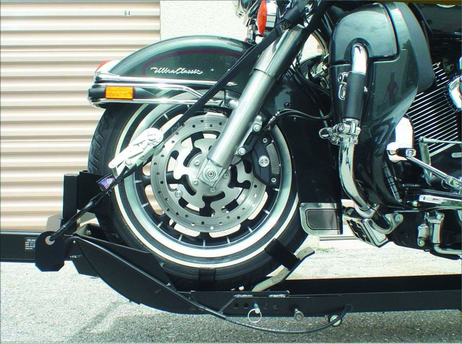 New Stinger Folding Single Motorcycle Cruiser Sport Bike Trike Trailer