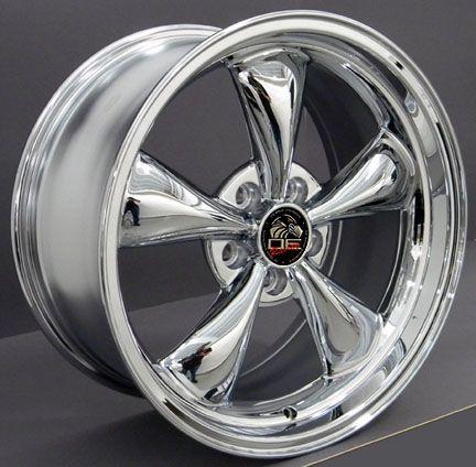 10 Chrome Bullitt Style Wheels Nexen Tires Rims Fit Mustang® 94   04