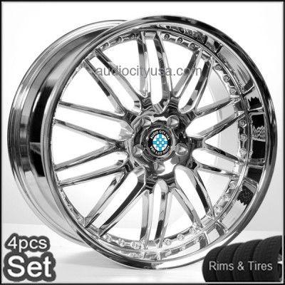 M46 Chrome Wheels and Tires for BMW Rims 3,5,7series M3 M5 M6 X3 X5 X6