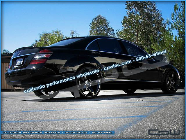 22 inch Mercedes Benz Black Wheels Rims Tire Package S550 CL550 550