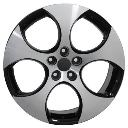 18 GTI Wheel with Black Machined Face Rim Fits Volkswagen VW