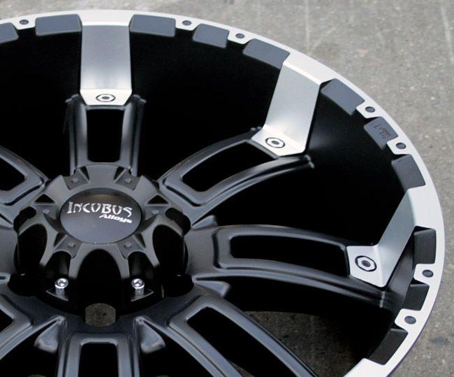 Incubus Crusher 816 20 Black Rims Wheels Toyota Tacoma Tundra 6H