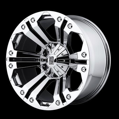 22 KMC XD Monster Rims Wheels GMC Chevy 2007 Nitto 24