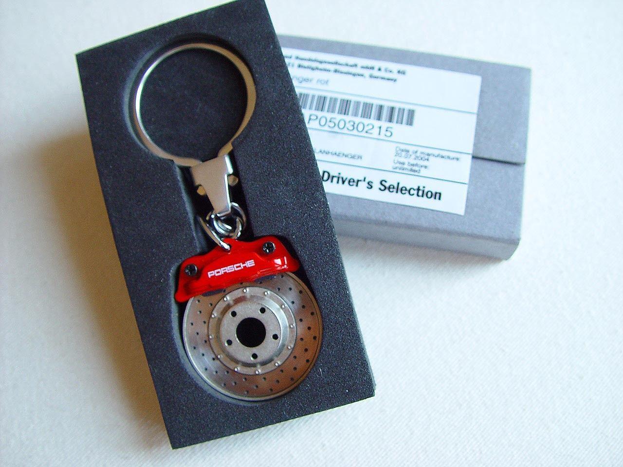 Orig. PORSCHE Schlüsselanhänger Key Ring Bremsscheibe