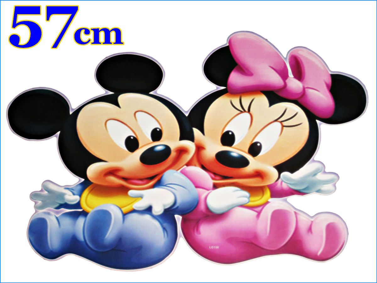 Disney Mickey & Minnie Mouse,Wandsticker,Sticker,Wandtattoo Wanddeko