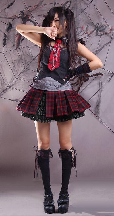 Fashion punk Visual Kei Gothic Lolita Skirt nana rock Japan fashion