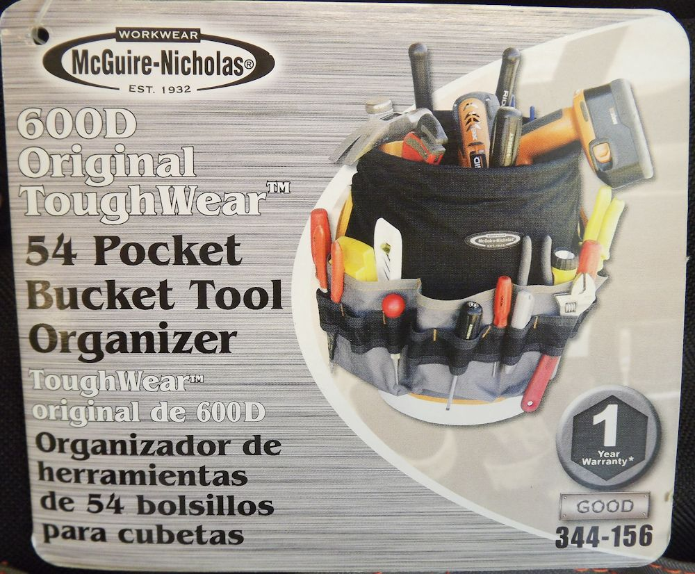 Workwear Mcguiver Nicholas 54 pocket Bucket Tool Bag 334 156