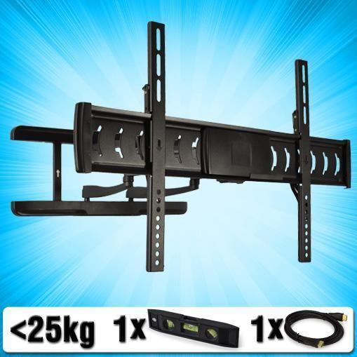 AUNA LDA03 446 TV WALL MOUNT BRACKET LCD PLASMA 32 60 SWIVEL TILT SLIM