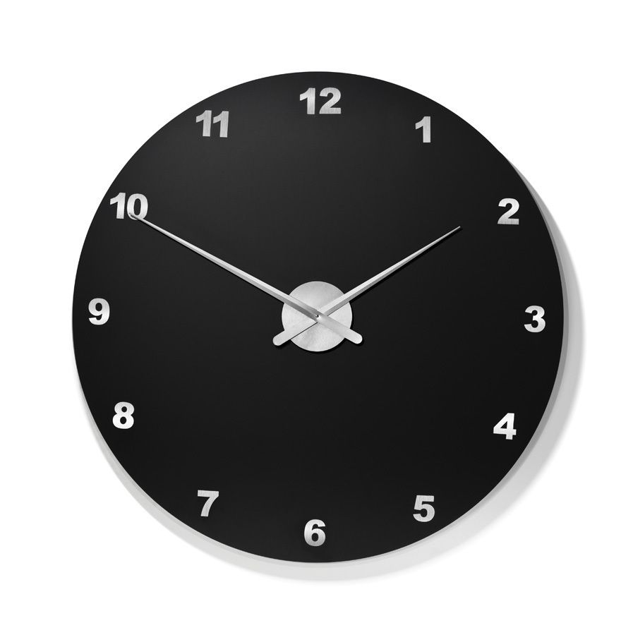 Designer wanduhr model arial black durchmesser 50 cm - Wanduhr 100 cm durchmesser ...