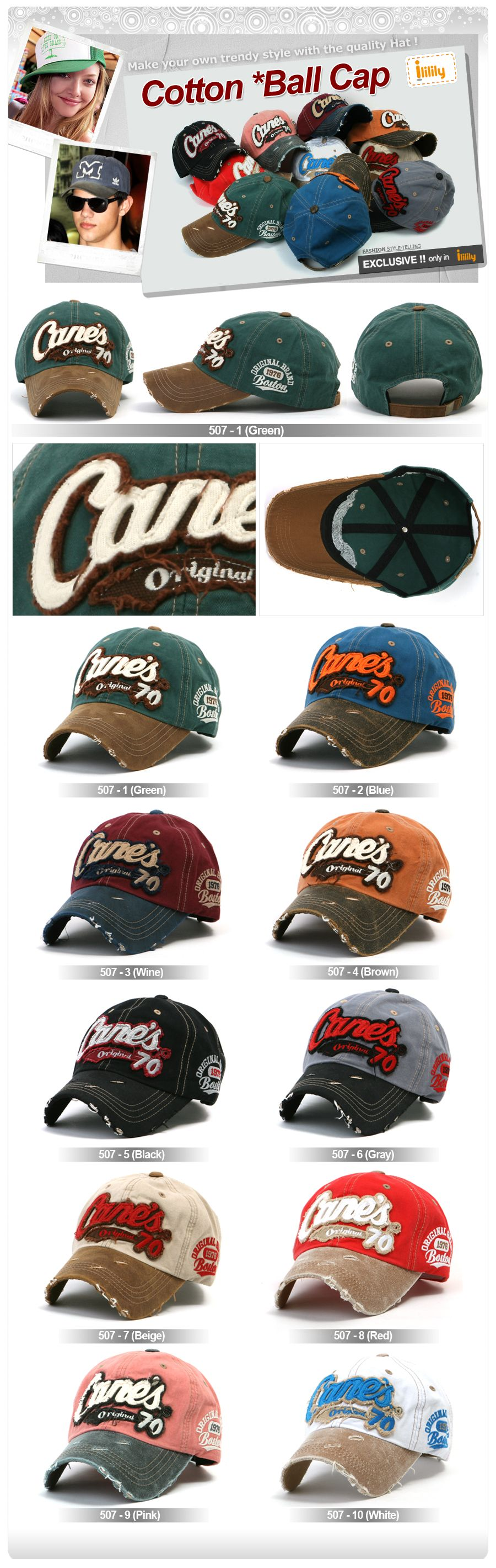Mens Visor Hats Ball cap Baseball Caps Trucker Hat M size 507