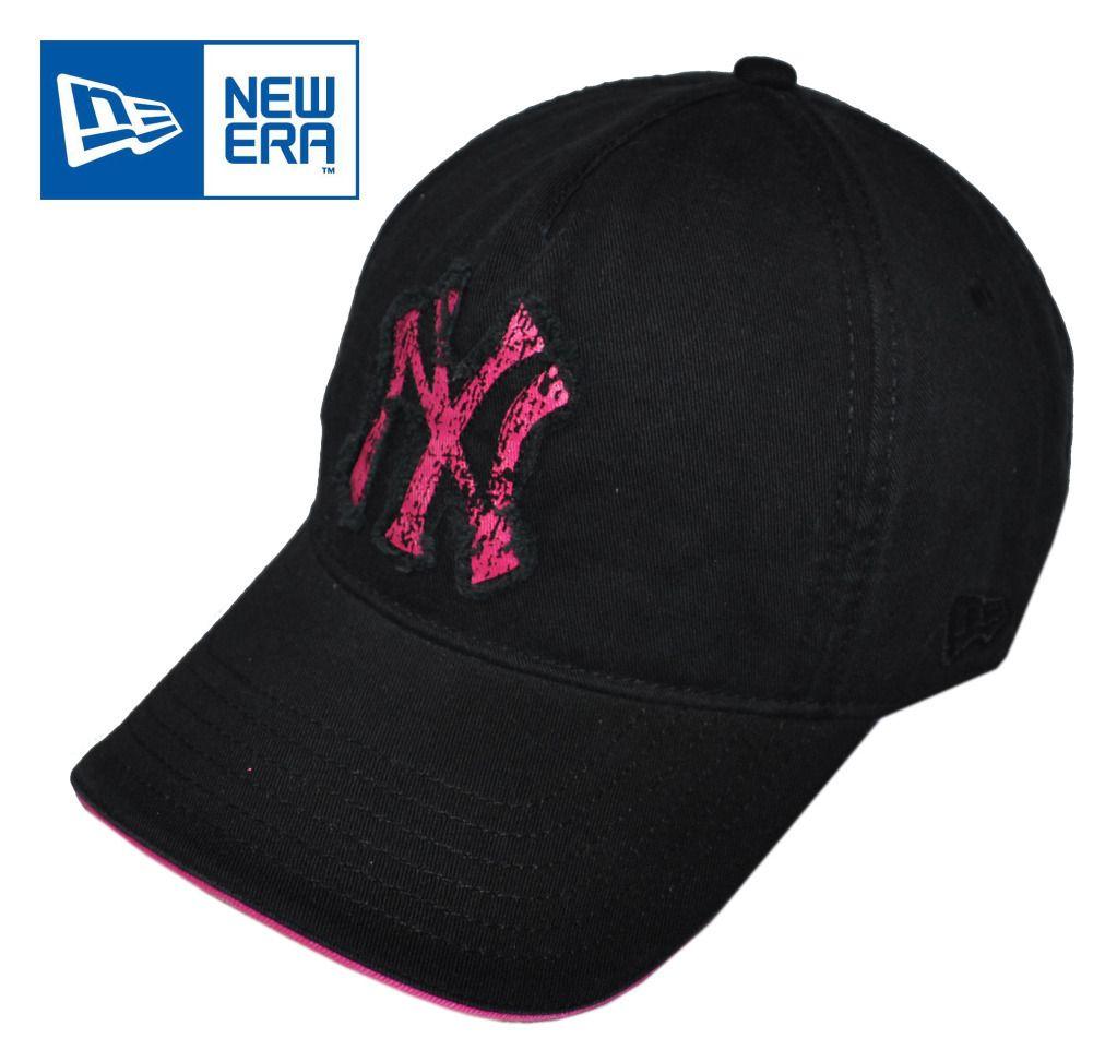 New Era   NY Yankees Retro Black + Pink Baseball Cap / Hat (AC532