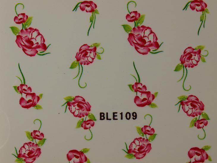 Nail Art Sticker Tattoo One Stroke BLE 109