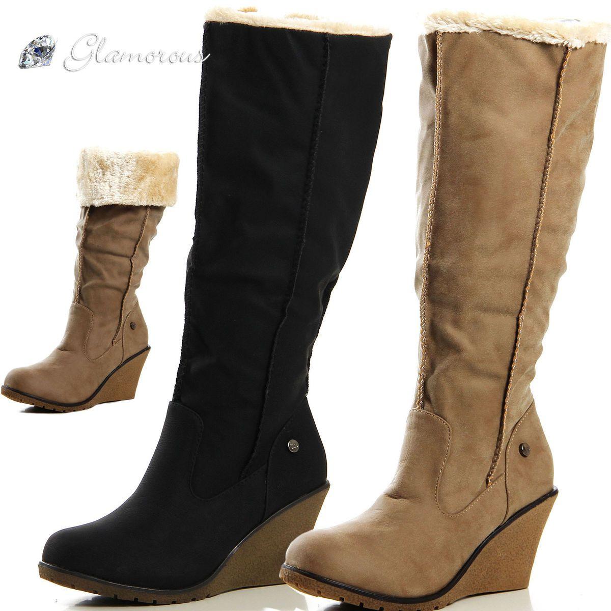 Keil Stiefelette Schuhe Damen Deichmann   Schuhe damen
