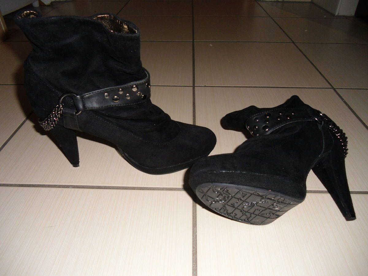 Damen Stiefeletten Schuhe luxus Schnur Boots 4640 Schwarz 37