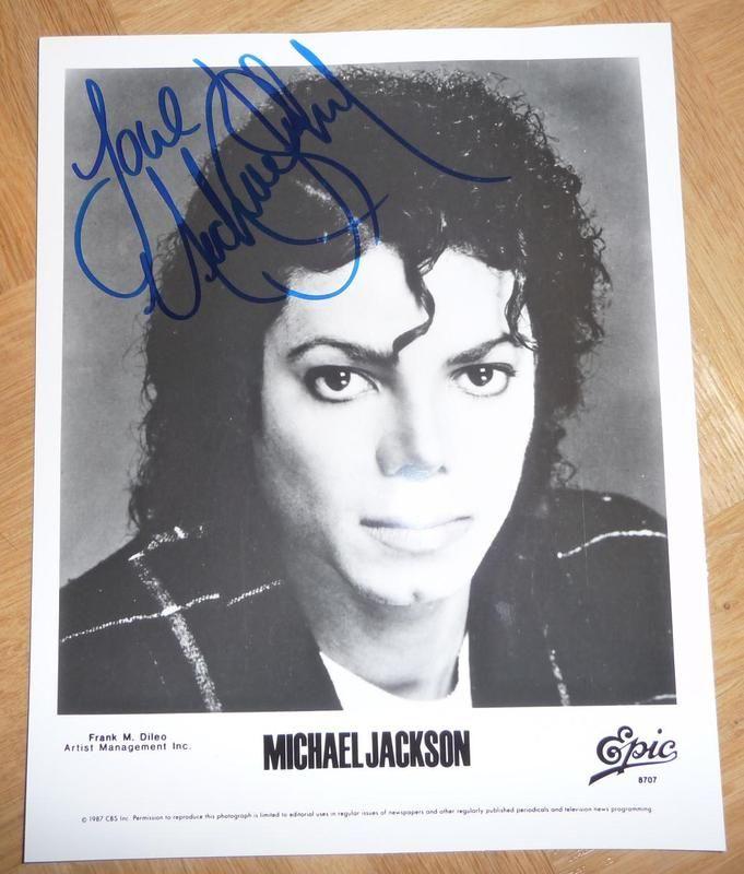 Michael Jackson Autogramm Autograph ca. 21x26 cm
