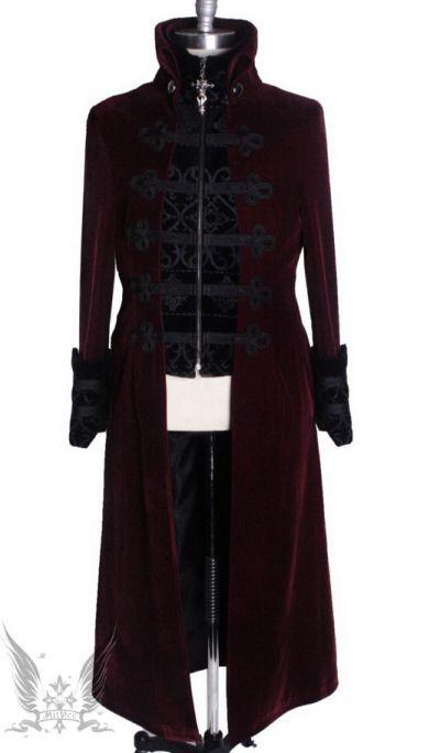 Visual Kei Punk Rave Rock Gothic Rot Jacket Coat Jacke Mantel Larp