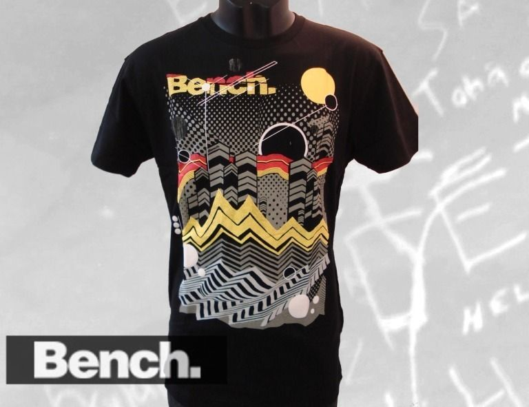 BENCH T Shirt DOT DASH CITY Herren T Shirt black Gr. M, L, XL